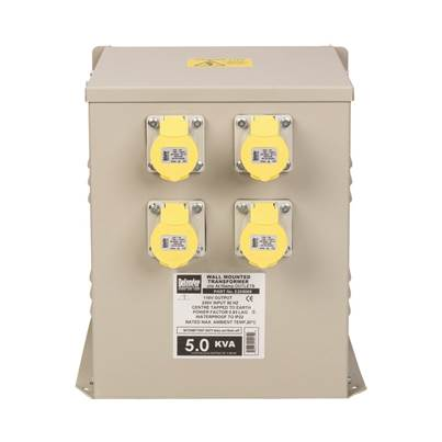Defender 5kVA Wall Mounted Transformer 4x 16A Outlets 110V