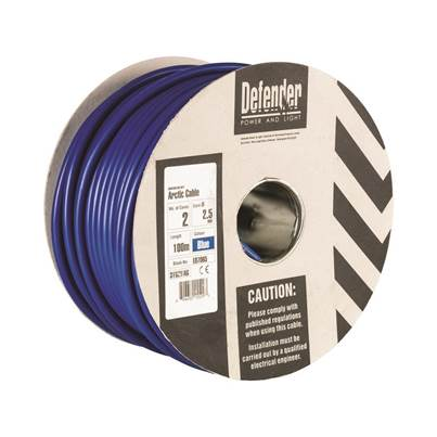 Defender 2.5mm 100M 2 Core Cable Drum 240V