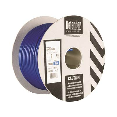 Defender 1.5mm 100M 3 Core Cable Drum 240V