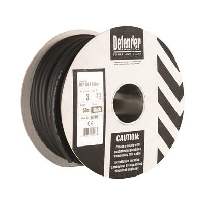Defender 50M HO7 RN-F 2 Core Cable Cable 110V/240V