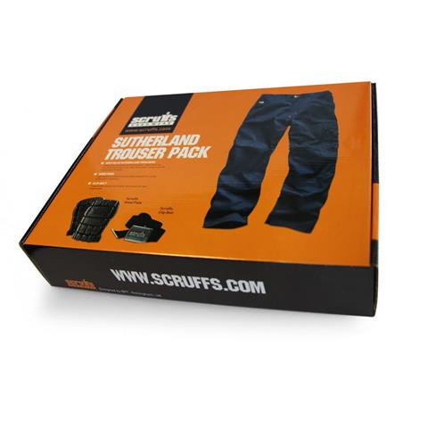 Scruffs Sutherland Navy Work Trousers with Knee Pads & Belt