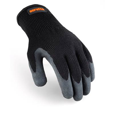 Scruffs Scruffs Utility Latex Coated Glove Black
