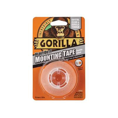 Gorilla Glue Gorilla Heavy-Duty Double Sided Clear Mounting Tape 25.4mm x 1.52m