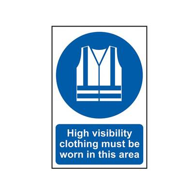Scan High Visibility Jackets Must Be Worn In This Area - PVC 200 x 300mm