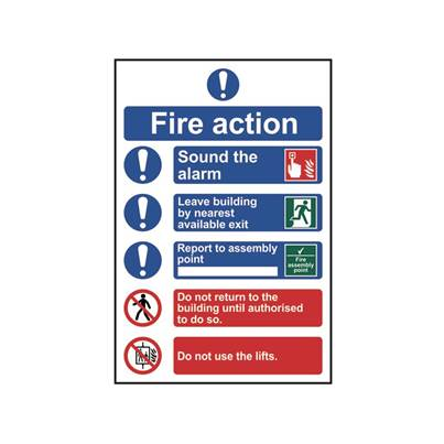 Scan Fire Action Procedure - PVC 200 x 300mm