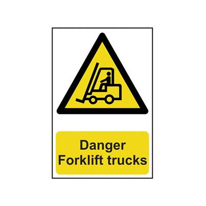 Scan Danger Forklift Trucks - PVC 200 x 300mm