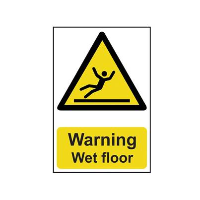 Scan Warning Wet Floor - PVC 200 x 300mm