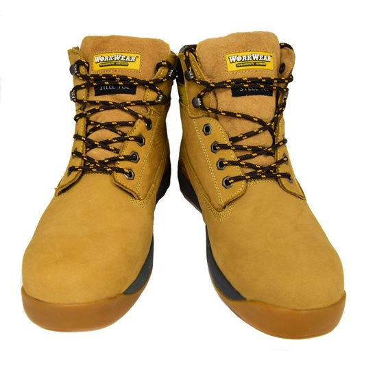 Image for Workwear Nubuck Tan Steel Toe Safety Boot