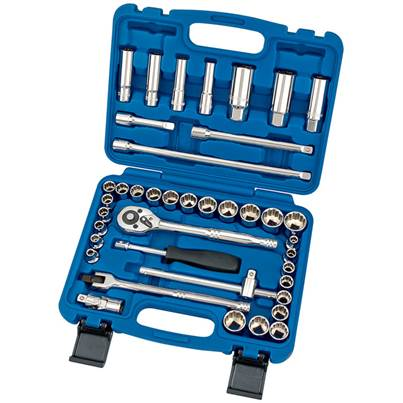 Draper 3/8 40pc Socket Set Square Drive Metric & AF 31058