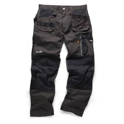 Scruffs Work Trouser 3D Trade Grey Regular Leg