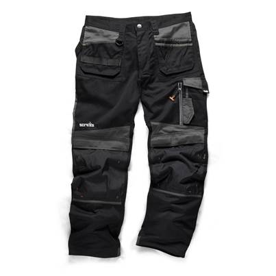 Scruffs Work Trouser 3D Trade Black Regular Leg