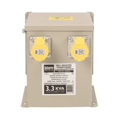 3.3kVA Wall Mounted Transformer 2x 16A Outlets 110V