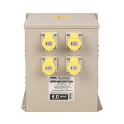 5kVA Wall Mounted Transformer 4x 16A Outlets 110V