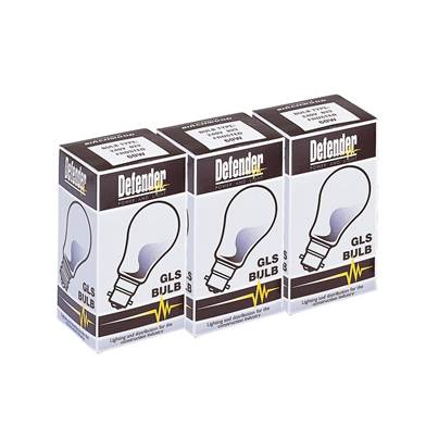 Defender 60W GLS Bulb BC (Box Of 100)