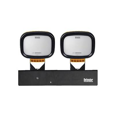 Defender LED3000S Twin Head Flood Light 110V - Wired Head Only