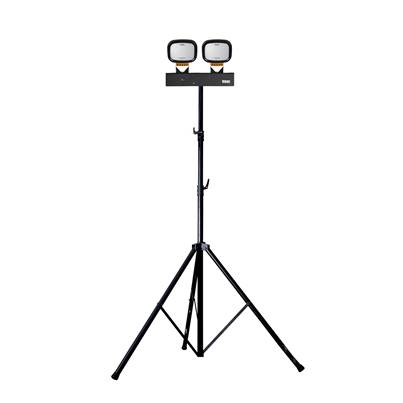 Defender LED6000S Twin Head Floodlight with Swing Leg Tripod