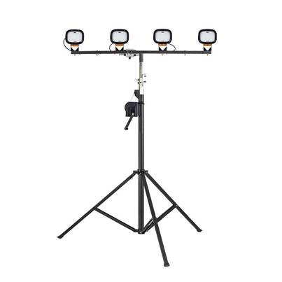 Defender LED6000S Quad Head Floodlight with Winch Mast