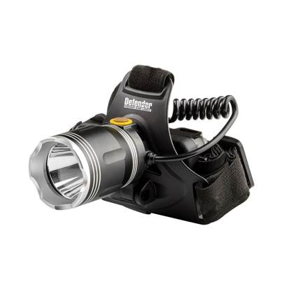 Defender LED Rechargeable Aluminium Head Torch 10W