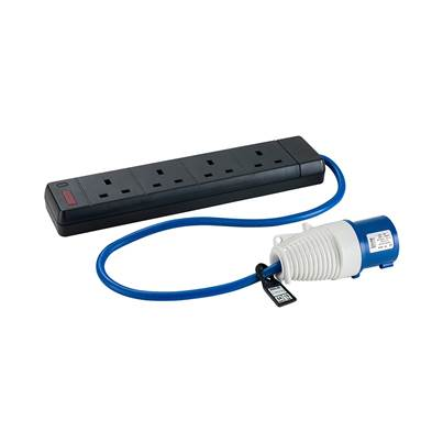 Defender 16-4x 13A Fly Lead - 16A (Plug) > 4X13A (Sockets) 240V