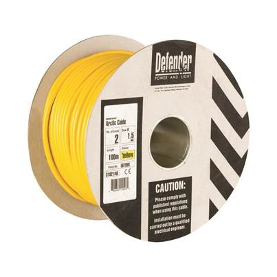 Defender 1.5mm 100m 2 Core Cable Drum 110V