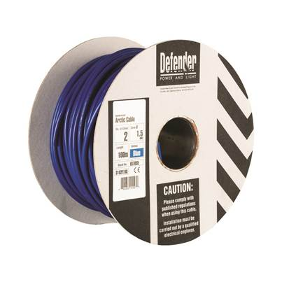 Defender 1.5mm 100M 2 Core Cable Drum 240V