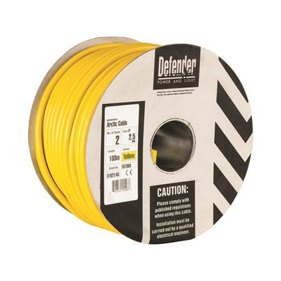 Defender 2.5mm 100M 2 Core Cable Drum 110V