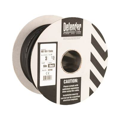 Defender 50M HO7 RN-F 3 Core Cable Drum 110V/240V