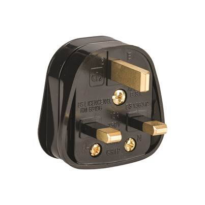 Defender 13A Rubberised Nylon Plug (Box Of 10) 240V