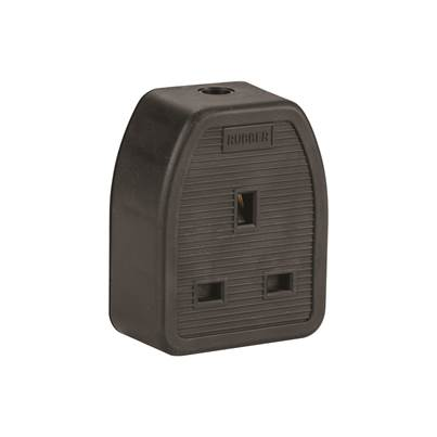 Defender 13A 1 Gang Rubber Socket (Box Of 10) 240V