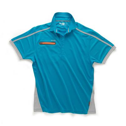 Scruffs Pro Active Zip Polo Blue
