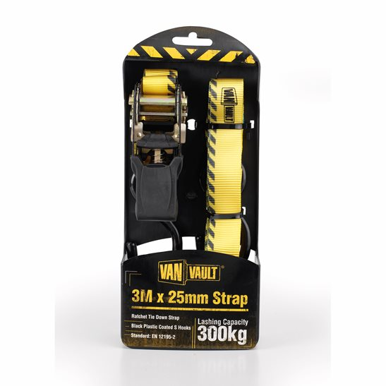 Image for 3.0M X 25mm Ratchet Strap