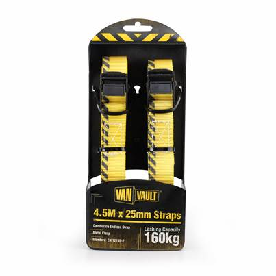 Van Vault 4.5M X 25mm Endless Strap (Pair)