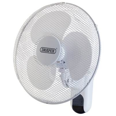 "Draper Wall Mounted Remote Control Fan 16"" (400mm)"