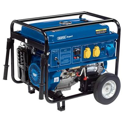 Draper Petrol Generator with Wheels (6.5kVA/6.0kW)