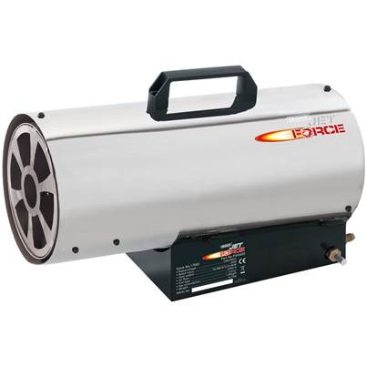 Draper Jet Force Stainless Steel Propane Space Heater (50,000 BTU/15 kW)
