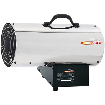 Draper Jet Force Stainless Steel Propane Space Heater (125,000 BTU/37 kW)