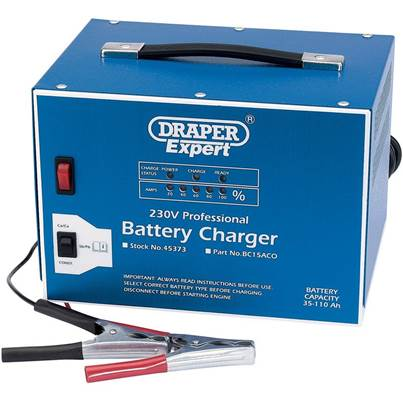 Draper 12V Battery Charger with Constant Output Mode