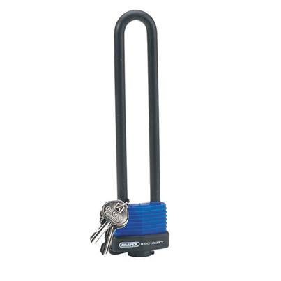 Draper U Bar Extra Long Shackle Lock with 2 Keys
