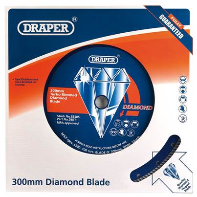 Draper 300mm Turbo Rim Diamond Blade