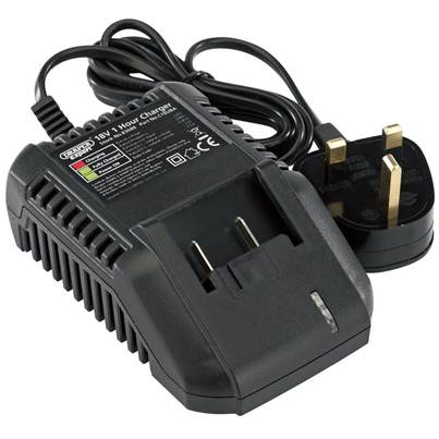Draper 18V Universal Battery Charger for Li-Ion and Ni-Cd Battery Packs