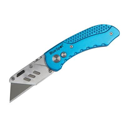 BlueSpot Tools Professional Folding Utility Knife