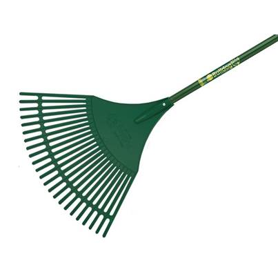 Bulldog Evergreen Plastic Leaf Rake Aluminium Shaft