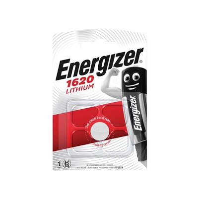Energizer CR1620 Coin Lithium Battery Single
