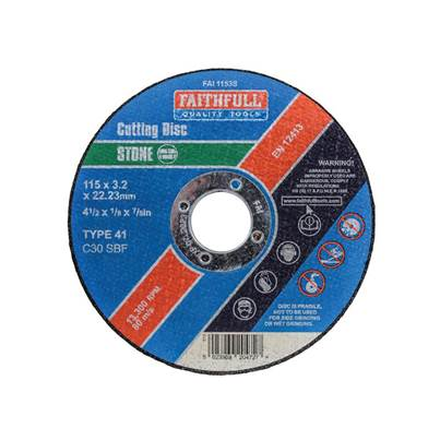 Faithfull Stone Cut Off Disc 115 x 3.2 x 22mm