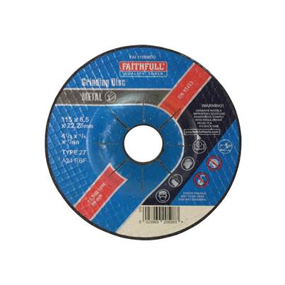 Faithfull Depressed Centre Metal Grinding Disc 115 x 6.5 x 22mm