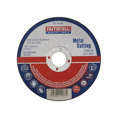 Faithfull Metal Cut Off Disc 125 x 3.2 x 22mm
