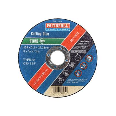 Faithfull Stone Cut Off Disc 125 x 3.2 x 22mm