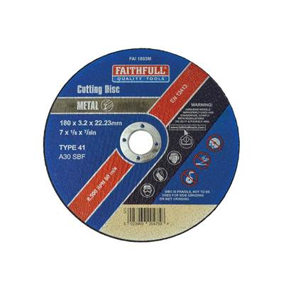 Faithfull Metal Cut Off Disc 180 x 3.2 x 22mm
