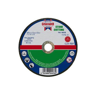 Faithfull Stone Cut Off Disc 180 x 3.2 x 22mm