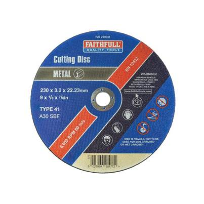 Faithfull Metal Cut Off Disc 230 x 3.2 x 22mm